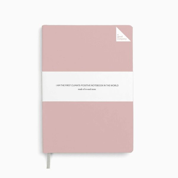 A Good Company Stone Paper Dusty Pink A5 Notebook