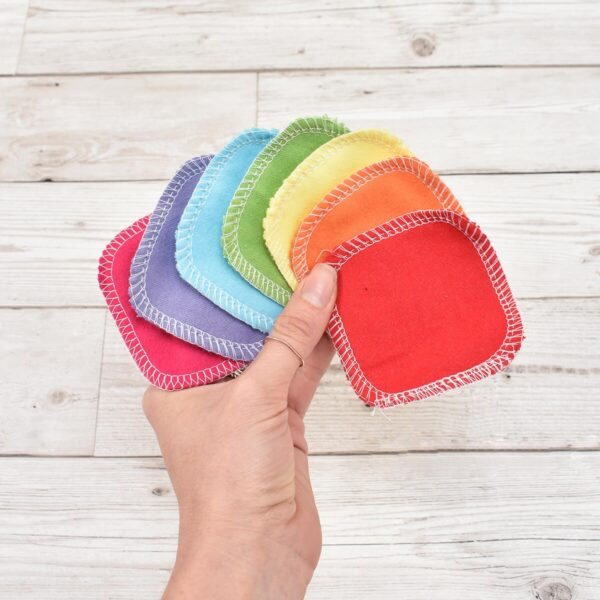 Marleys Monsters Rainbow Cotton Facial Rounds