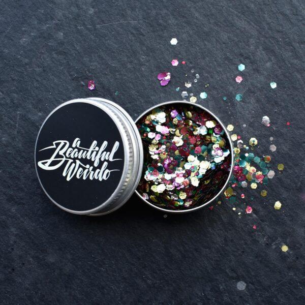A Beautiful Weirdo Rainbow Pride Biodegradable Glitter Tin