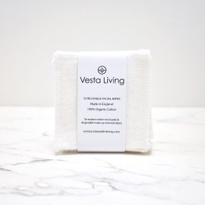 Vesta Living Reusable Organic Facial Round Wipes Pack of 10