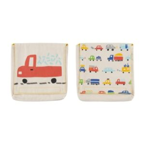 Set of 2 Fluf Car print Cotton Snack Packs