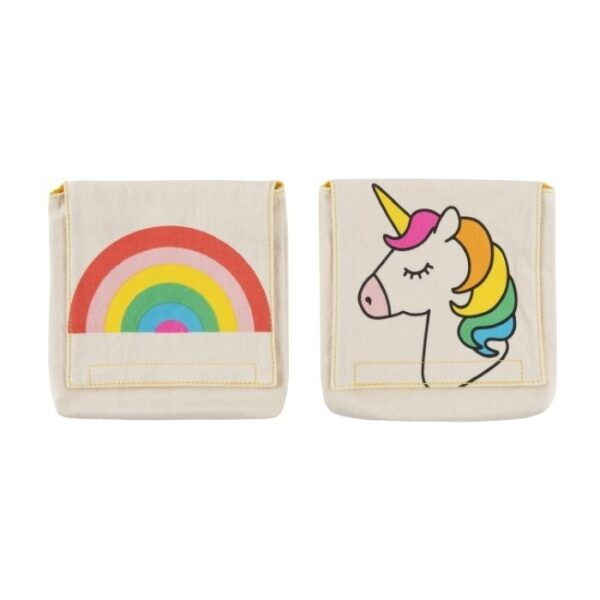 Set of 2 Fluf Cotton Snack Packs , Rainbows and Unicorn Prints