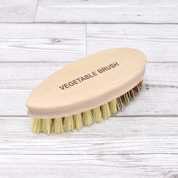 Nether Wallop Trading Co Natural Bristle Vegetable Brush Logo Handle