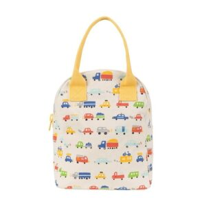 Fluf Car Print Lunch Bag