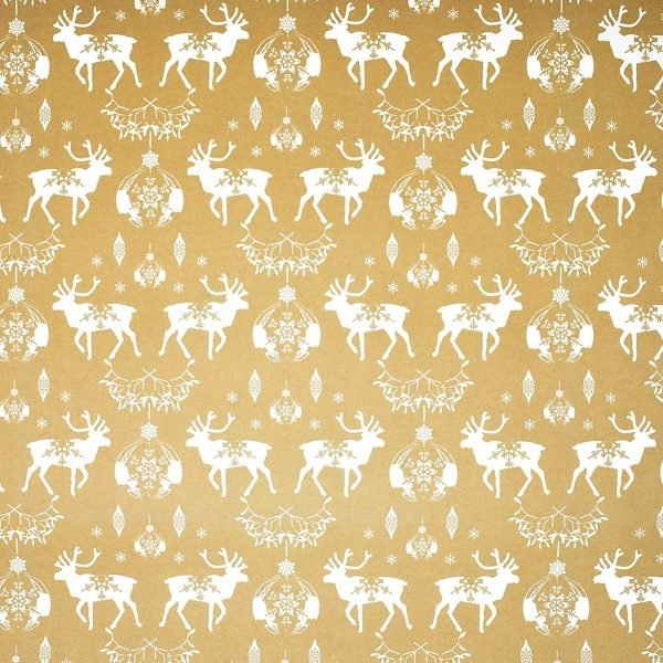 Happy Wrap Recycled Gold Christmas Wrapping Paper