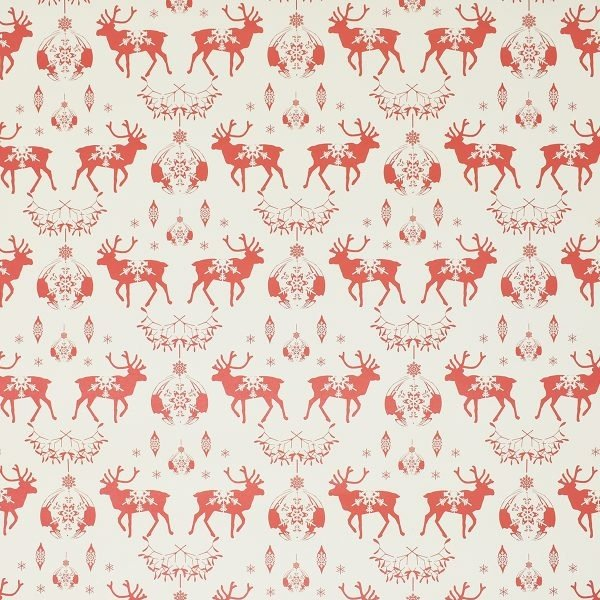 Happy Wrap Recycled Brown & Red Christmas Wrapping Paper
