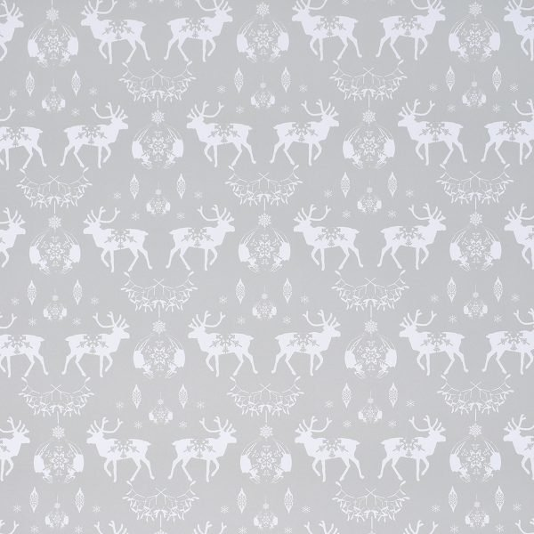 Happy Wrap Recycled Silver Christmas Wrapping Paper