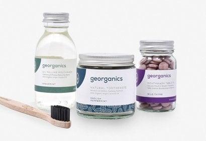 Georganics organic toothpaste, mouthwash & mouthwash tablets