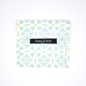 Keep Leaf Reusable Snack & Sandwich Baggie , Geo Print