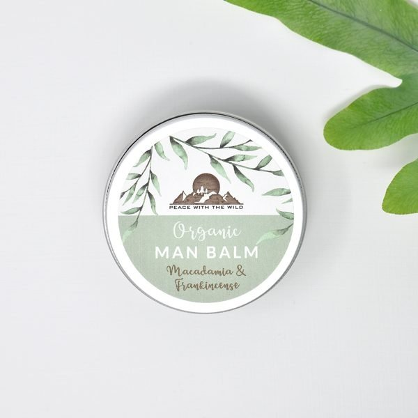 Peace With The Wild Organic Macadamia & Frankincense Man Balm Tin