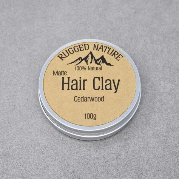 Rugged Nature Cedarwood Natural Vegan Hair Clay Tin