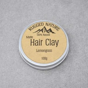 Rugged Nature Lemongrass Natural Vegan Hair Clay Tin
