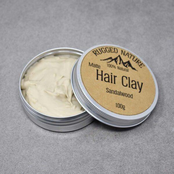 Rugged Nature Sandalwood Natural Vegan Hair Clay
