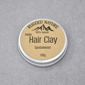 Rugged Nature Sandalwood Natural Vegan Hair Clay Tin