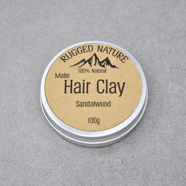 Rugged Nature Sandalwood Natural Vegan Hair Clay Tin