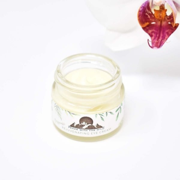Peace with the wild Organic Rejuvenating Eye Cream Jar Open