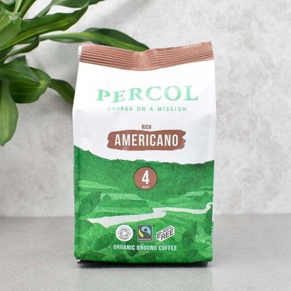 Percol Fairtrade Organic Americano Plastic Free Ground Coffee