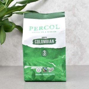 Percol Fairtrade Organic Colombian Plastic Free Ground Coffee