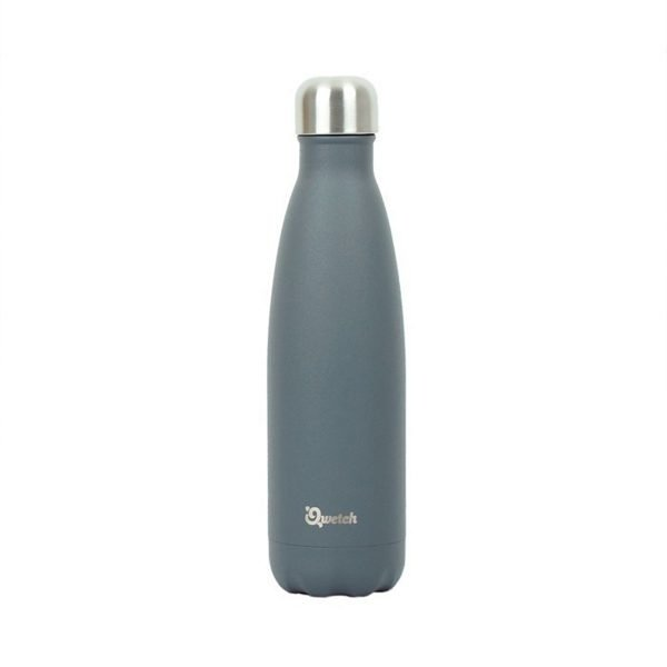 Qwetch Granite Grey Stainless Steel Bottle