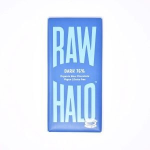 Raw Halo Vegan Organic Raw 76% Dark Chocolate 70g bar
