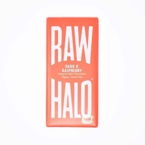 Raw Halo Vegan Organic Raw Chocolate Dark & Raspberry 70g Bar
