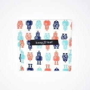 Keep Leaf Robot Pattern Reusable Snack & Sandwich Baggie