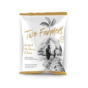 Two Farmers Plastic Free Hop Cheese & Onion Herefordshire Crisps
