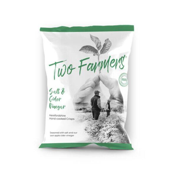 Two Farmers Plastic Free Salt & Cider Vinegar Herefordshire Crisps