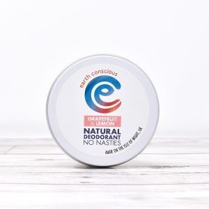 Earth Conscious Grapefruit & Lemon Natural Deodorant Tin