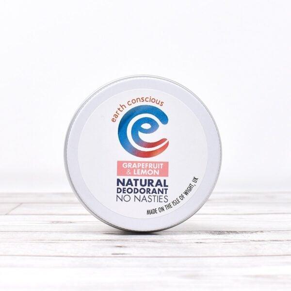 Earth Conscious Grapefruit & Lemon Natural Deodorant Tin