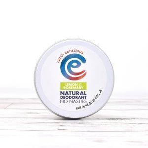 Earth Conscious Lemon & Rosemary Natural Deodorant Tin
