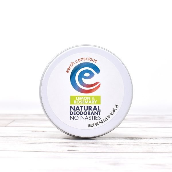 Earth Conscious Lemon & Rosemary Natural Deodorant Tin