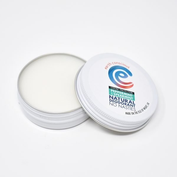 Earth Conscious Peppermint & Spearmint Natural Deodorant Tin Open