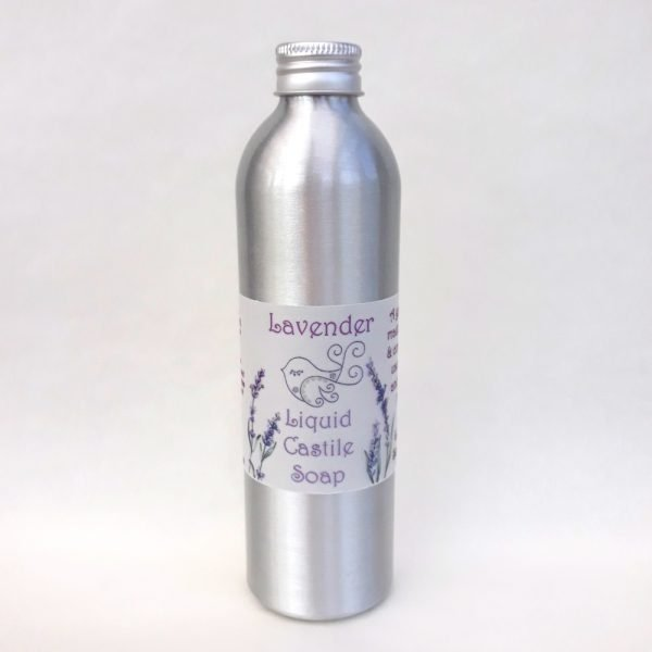 Little Blue Hen Lavender Castile Soap , liquid soap, vegan-friendly, palm-oil-free, natural, plastic-free, recyclable