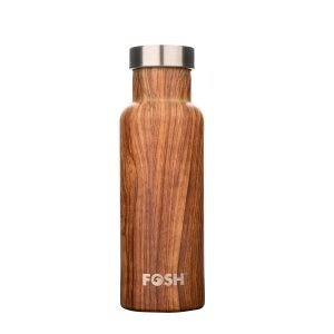 Fosh Wood Triple Insulated Stainless Steel Water Bottle