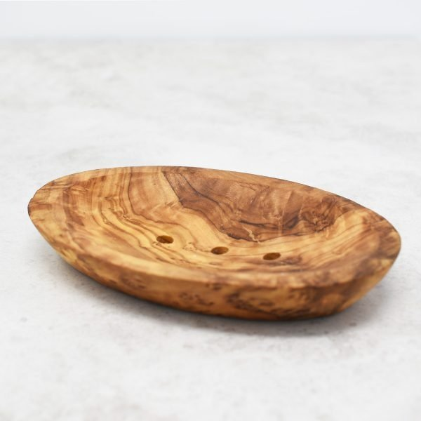 Eco Living Olive Wood Soap Dish With Draining Holes