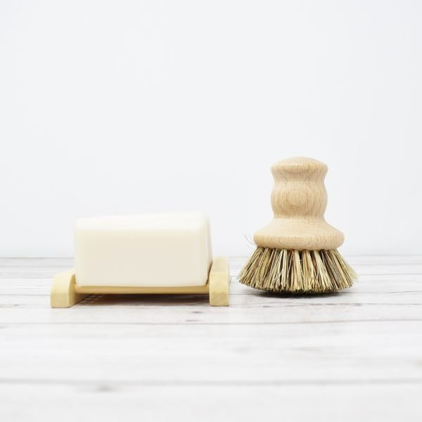 Eco Living Wooden Pot Brush With Soap