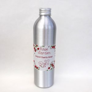 Little Blue Hen Rose Garden Castile Soap , liquid soap, vegan-friendly, palm-oil-free, natural, plastic-free, recyclable