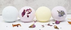 Set of four bath bombs by The Salty Herb