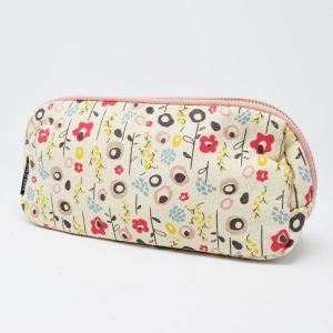 Keep Leaf Bloom Print Organic Cotton Make Up Bag