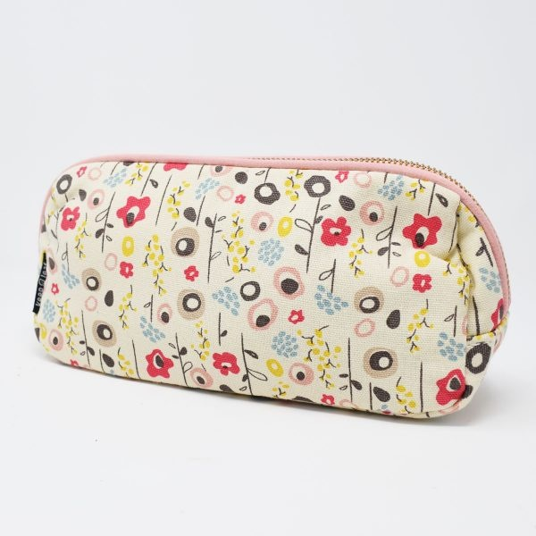 Keep Leaf Bloom Print Organic Cotton Make Up Bag