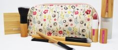 Keep Leaf Bloom Print Organic Cotton Make Up Bag With Makeup & Brushes