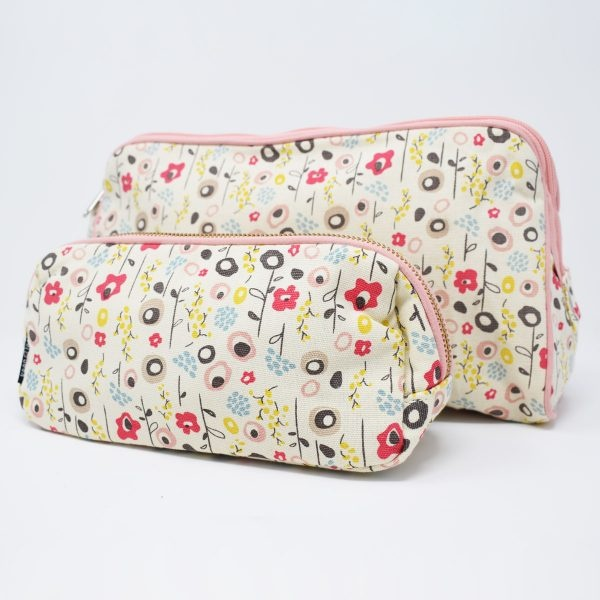 Keep Leaf Bloom Print Organic Cotton Make Up Bag & Wash Bag