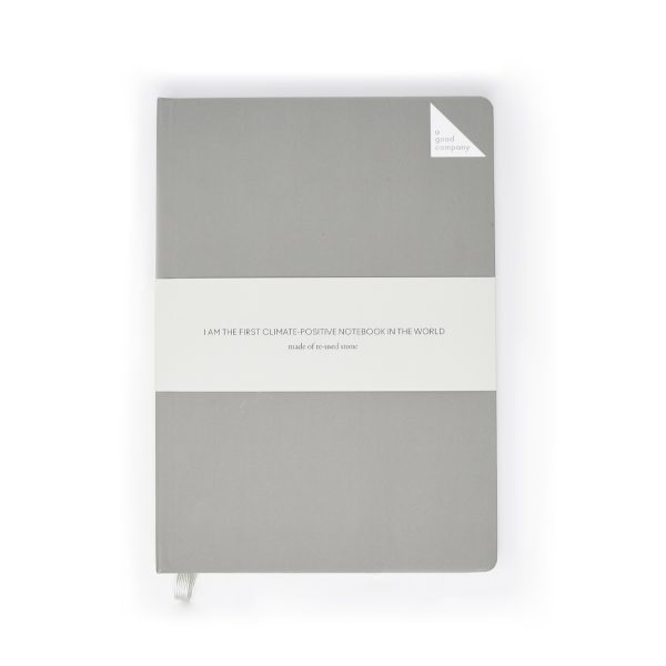A Good Company Stone Paper Grey A5 Notebook