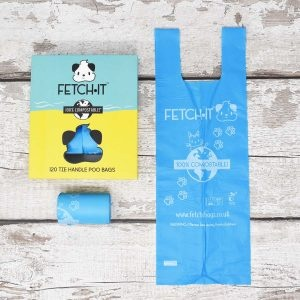 Fetch It Compostable Dog Poop Bags Ocean And Box