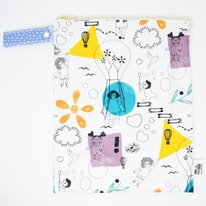 Marley's Monsters Large Nappy Wet Bag With Playful Print