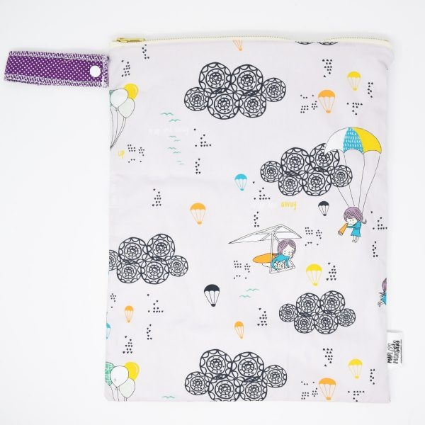 Marley's Monsters Large Nappy Wet Bag With Up & Away Print
