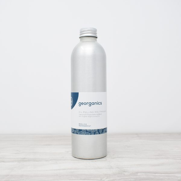 Georganics Oil Pulling Mouthwash – English Peppermint