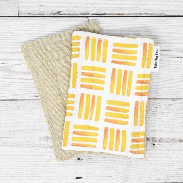Tabitha Eve Co, Tabitha Eve, None Sponge, sponge, heavy duty, natural, plastic-free, bio-degradable, set of sponges, cotton, bamboo , hessian, orange peel,