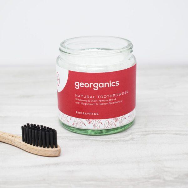 Georganics Toothpowder , dental care, dental hygiene, vegan friendly, toothpowder, whitening toothpowder, eucalyptus,